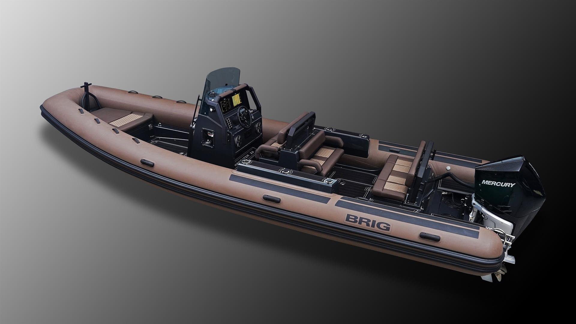 brig semi rigide rib navicap uship bateau moteur brig navigator 23 8 zodiac